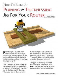 Router planing jog plans