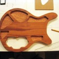 Mahogany body with cavities