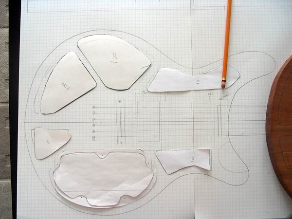 Cutting paper templates for cavities