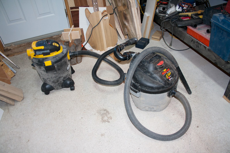 The new Shop-Vac creates a vacuum in the old Shop-Vac