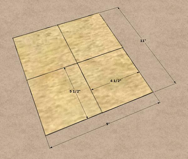 A sheet of sanding paper