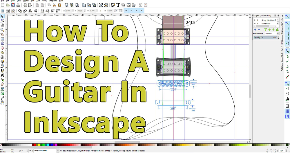 Guitar design in inkscape software project electric guitar malvernweather Choice Image