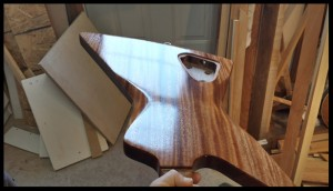 Applied 10 coats of tru-oil to the mahogany