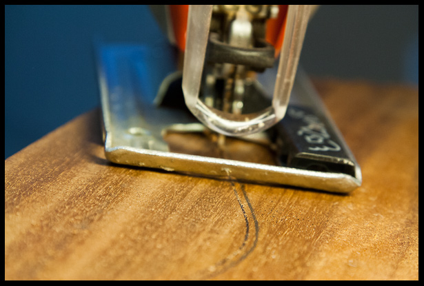 Cutting on the exterior line with a jigsaw