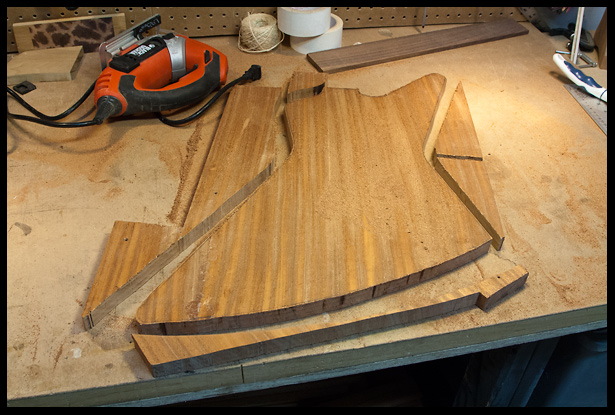 Rough cut of the Explorer Mahogany body