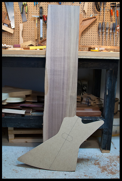 This walnut board will become the top