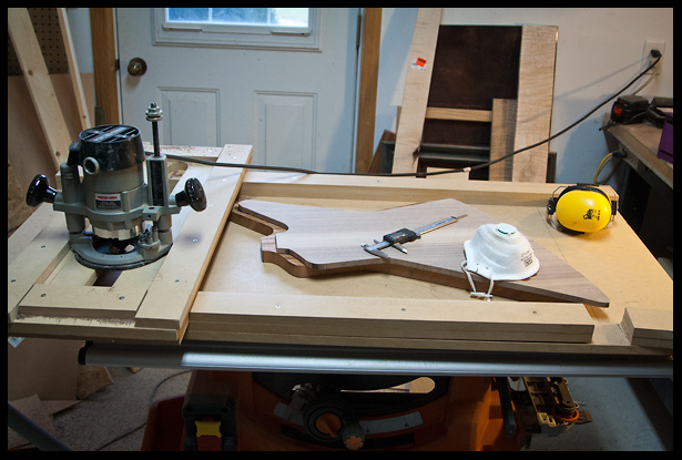 thickness planing the walnut top