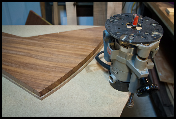 getting ready to trim the walnut down to the same size as the mahogany