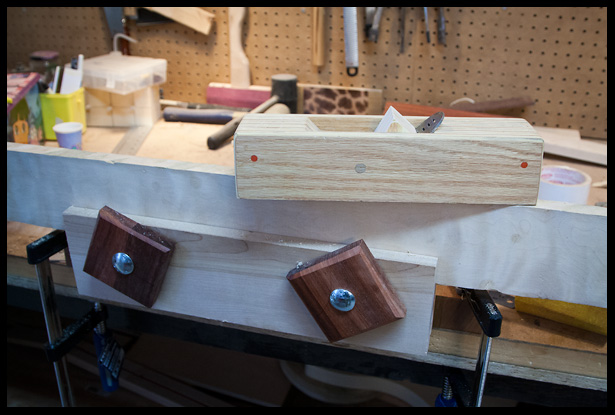 Jointing the edge of the neck blank with my home-made plane
