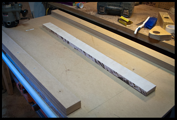 Planing and thickness routing the neck blank