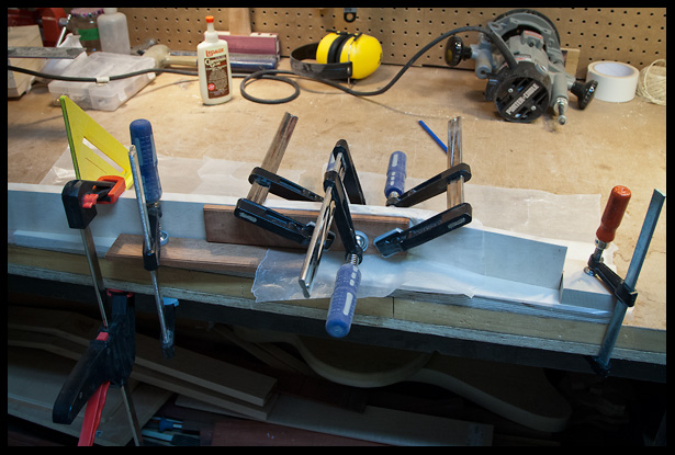 How to glue a scarf joint