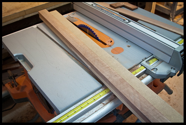 jointing the edges on the table saw