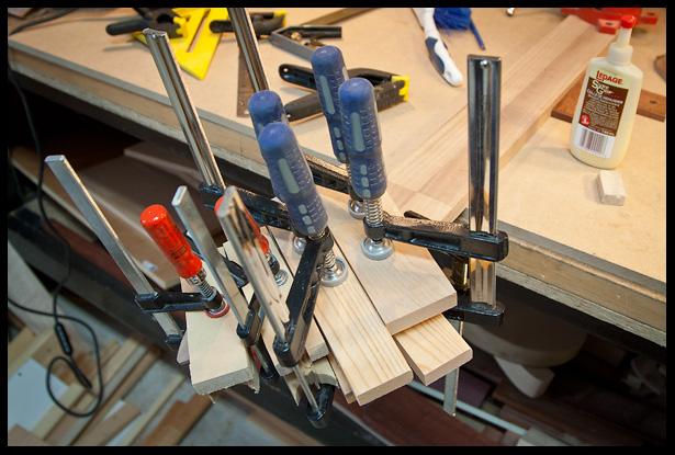 glue setup for headstock veneer