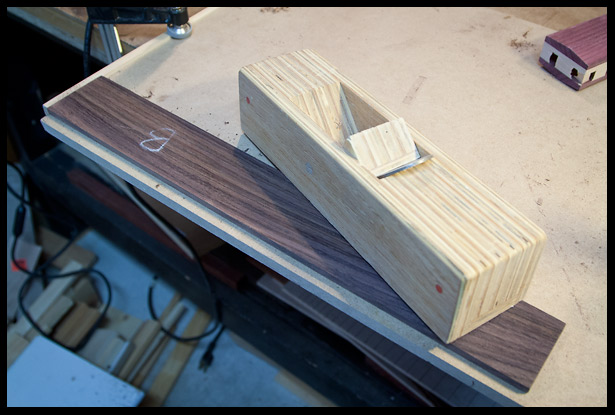 Planing the back of the fretboard