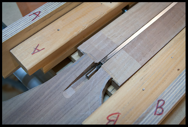 Truss rod channel routed