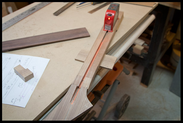 Using a laser to check for accuracy and to find the real centerline on the headstock