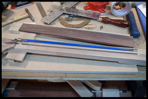 About to insert the truss rod