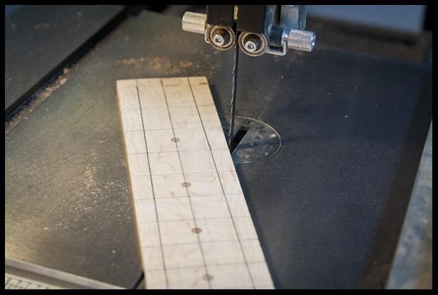 Preparing the new fretboard