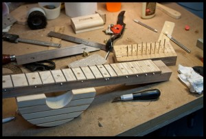 Installing the frets
