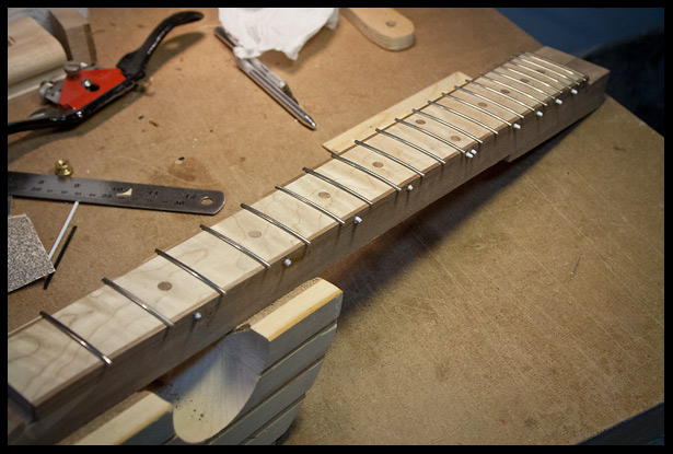 Fret installation completed