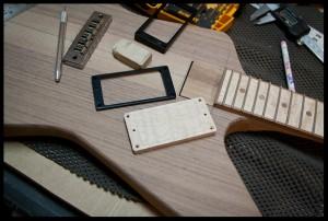Making wooden humbucker pickups rings
