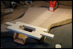 Aligning the pickup router template