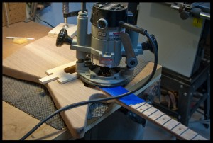 Routing the upper part of the heel