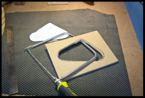 Making the electronics cavity template.