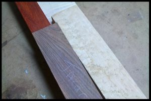 Wood for neck and fingerboard