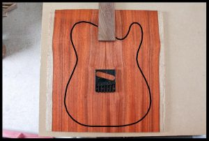 All-red top with jacaranda fretboard