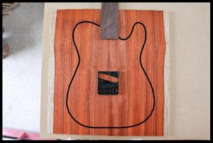 All-red top with rosewood fretboard