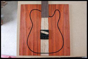 White sapwood stripe with rosewood fretboard