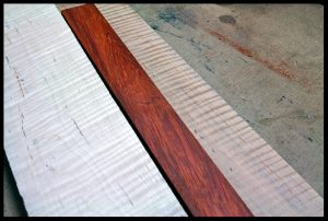 The pieces for the laminated neck