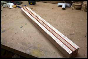 5-piece laminated neck blank is ready