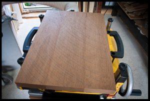 Planing the mahogany body