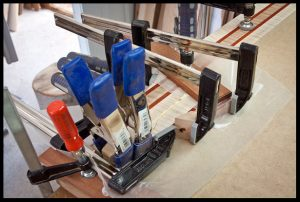 Gluing on the headstock extension