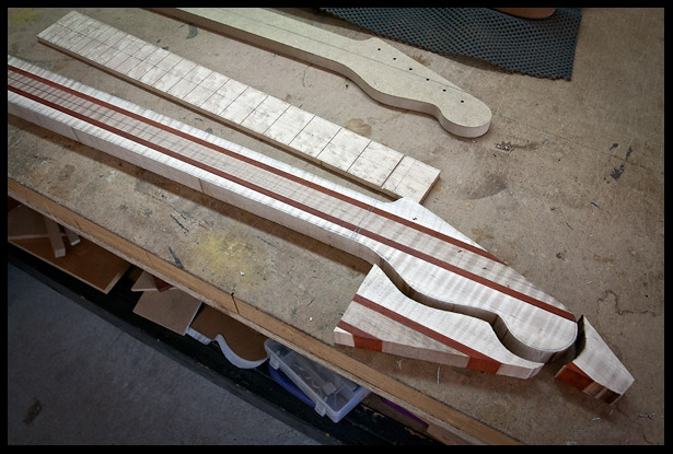 Band sawing out the rough neck shape