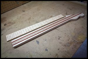 The fretboard and neck so far