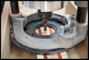 Centering the neck under the router bit