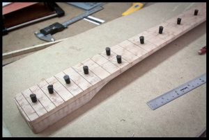 Testing positions of dot inlays
