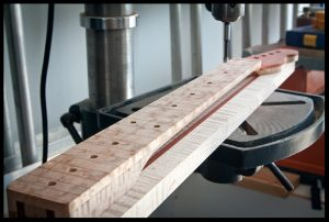 Drilling inlay holes on the drill press