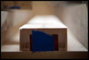 The fretboard before radiusing