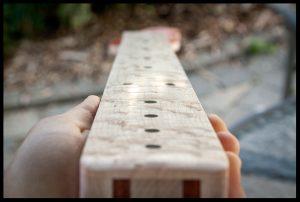 The bird's eye maple fretboard
