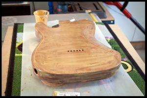 Adding grain filler to the mahogany