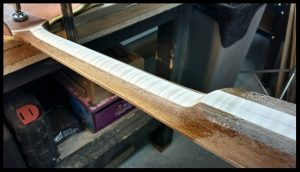 Neck carving completed