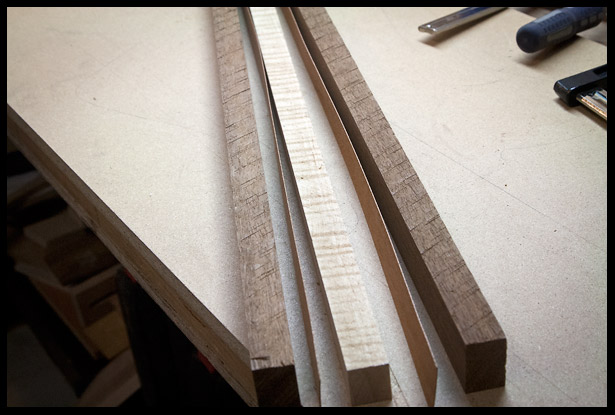 The pieces of the laminated neck