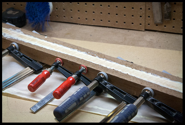 Glue up of the neck blank