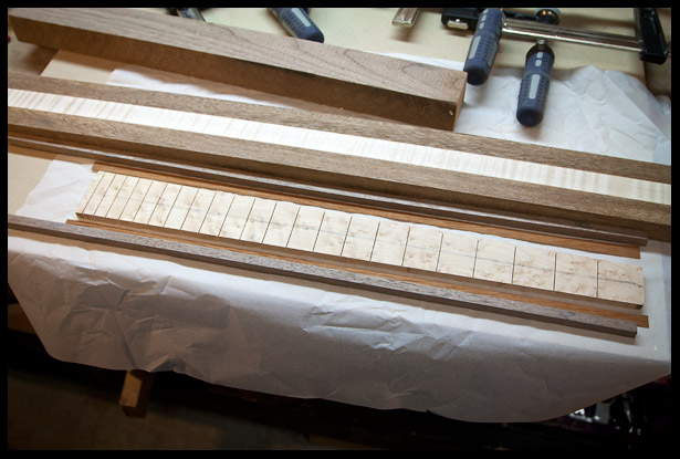 Preparing the fretboard for binding