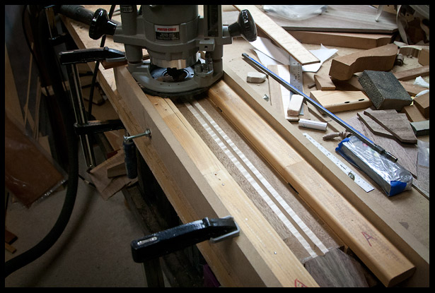 Routing the truss rod channel