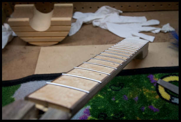 Frets are in
